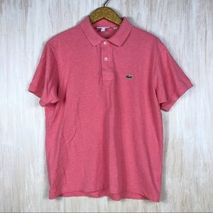 Lacoste Pink Classic Fit Short Sleeve Polo Shirt